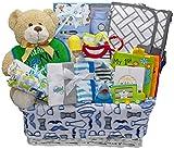 Bundle of Joy Deluxe Baby Boy Gift Basket | New Baby Gift Set