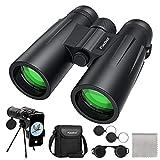 Usogood Binocolo 12 x 50 per adulti - Prismi BaK-4, obiettivo FMC, binocolo compatto per birdwatching, caccia ed escursionismo con adattatore telefonico per treppiede