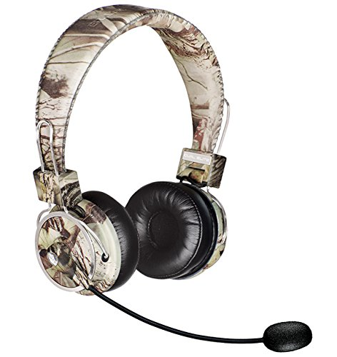 Blue Tiger Dual Elite Wireless Bluetooth Headset  Premium Noise Cancelling Headphones with No Wires - Ideal Driving, Gaming and Music Accessories  50 Hour Talk Time - Tree Camo