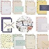 10 Stück Briefpapier mit Umschlag,Schreibpapier Motivpapier,Briefumschlag Briefpapier Set,Briefpapiere und Briefumschlag,Schreiben Briefpapier,Einladungskarten,Glückwunschkarte,Umschlag