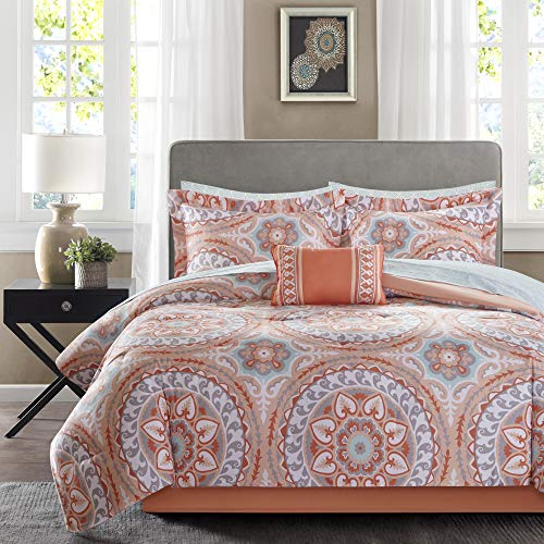 Madison Park Essentials MPE10-204 Serenity Complete Bed and Sheet Set Twin Coral