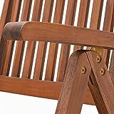 Sitzgruppe 6+1 FSC-zertifiziertes Eukalyptusholz klappbar 7-TLG Tisch Sitzgarnitur - 5