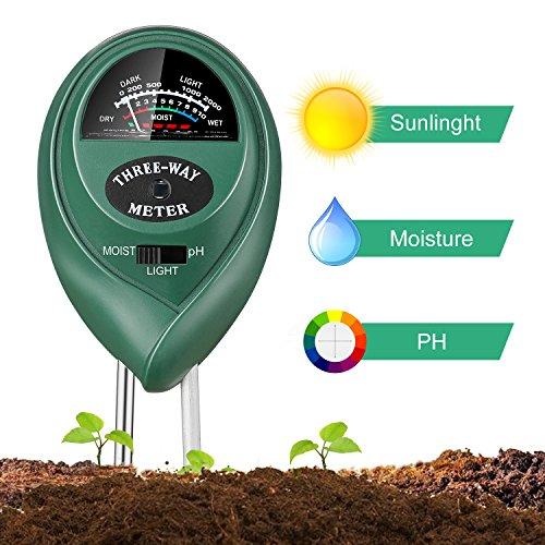 Jellas Soil Test Kit - 3 in 1 Soil pH Meter Tester Plant...