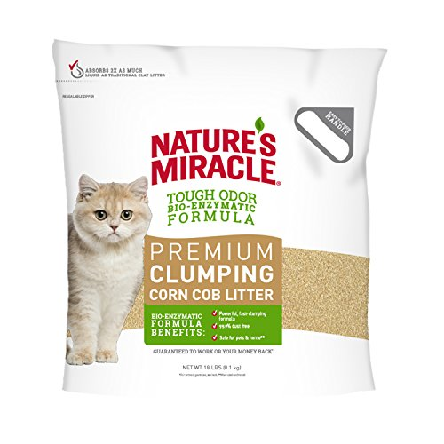 Nature's Miracle Premium Clumping Corn Cob Litter, 18 lb