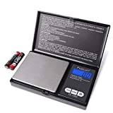 Fuzion Digital Pocket Scale, High Accuracy within 1000g/0.1g, Personal Nutrition Scale with LCD Back-Lit Display, Portable travel scale for Food, Medicine, Jewelry(Battery Included)