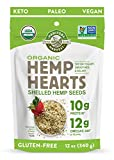 Manitoba Harvest Organic Hemp Hearts Shelf Stable Hemp Seeds, 12oz; with 10g Protein & 12g Omegas per Serving, Keto, Gluten Free, Vegan, Whole 30, Paleo, Non-GMO