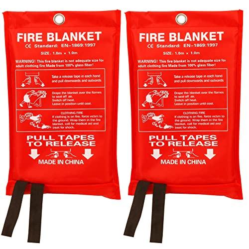 Fire Blanket Fiberglass Fire Emergency Blanket Suppression Blanket...