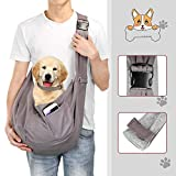OWNPETS Pet Sling Carrier, Pet Sling Carrier Bag Safe,Fit 15~17lb Cats&Dogs, Comfortable, Adjustable, Perfect for Daily Walk, Outdoor Activity and Weekend Adventure