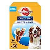 Pedigree Dentastix Snack Dental para la Higiene Oral de Perros Medianos (1 Pack de 56ud)