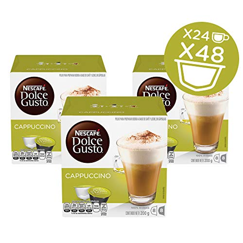 NESCAF Dolce Gusto Coffee Capsules Cappuccino, 16 Count ( Pack Of 3 )