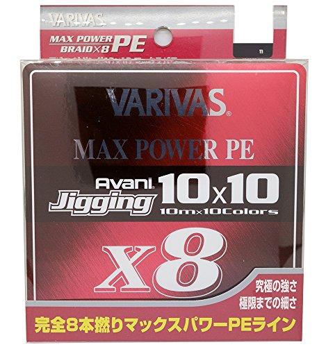 VARIVAS(バリバス) PEライン アバニ ジギング10×10 マックスパワーPE X8 300m 3号 48lb 8本 10色