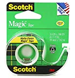 Invisible matte-finish tape preferred by homes, schools and home offices. Scotch magic tape refill is the very best tape for the office. The original matte-finish, invisible tape. Comes off the roll smoothly, cuts easily.