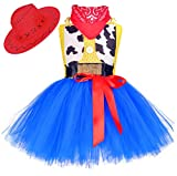 Tutu Dreams Cowboy Cowgirl Costume for Toddler Girls Western Cowboy Role Play Clothes Carnival Birthday Party (Cowgirl, 3-4T)
