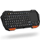 [TECLADO QWERTY COMPACTO Y PORTÁTIL CON TOUCHPAD] Teclado QWERTY innovador y compacto con panel táctil que brinda comodidad combinada con la libertad de conectividad inalámbrica. Conéctese a todos sus dispositivos favoritos con este teclado inalámbri...