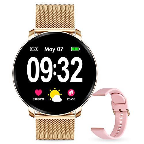 GOKOO Reloj Inteligente Mujer Smartwatch Bluetooth Rastreador de...