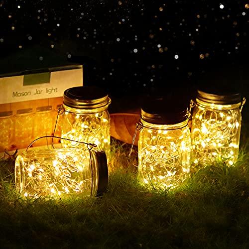 Vindany lámparas Solares Exterior - Juego de 4 Luz Solar Jardín...
