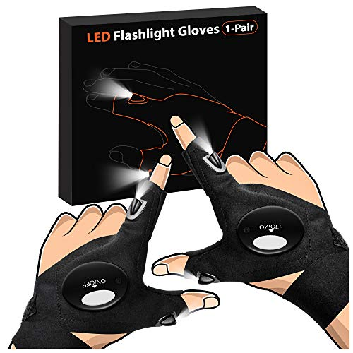 Gifts for Men Father Day, LED Flashlight Gloves Dad Men...