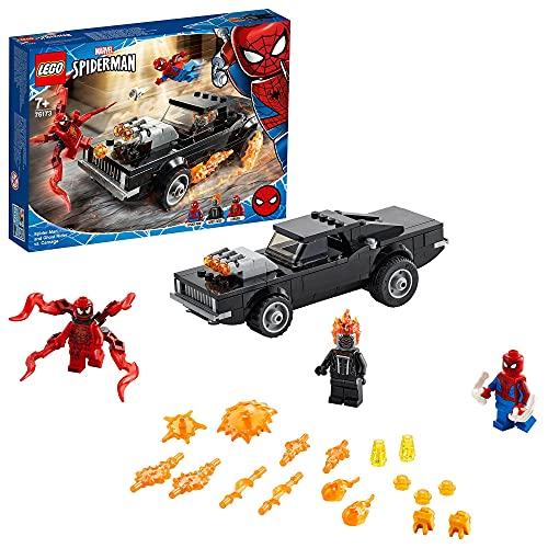 LEGO 76173 Spider-Man und Ghost Rider vs. Carnage mit Spielzeugauto zum Bauen, Marvel Super Heroes...