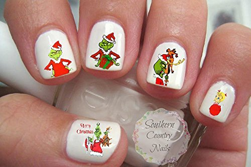 Christmas G Nail Decal Nail Art Fingernail Decals Nail