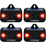 Lycoming Deer Repellent Raccoon Repellent for Nocturnal Animals Solar Predator Control Light Coyote Deterrent Devices with Red LED Strobe Lights Skunk Repellent for Garden - 4 Pack
