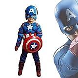 MEET Captain America Classic Muscle Costume (Large) Blue …