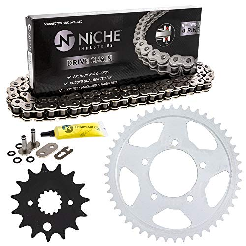 NICHE Drive Sprocket Chain Combo for Suzuki Marauder 800 VZ800 Front 15 Rear 48 Tooth 530V O-Ring 116 Links