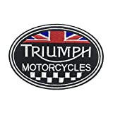 Triumph Motorcycles Patch Embroidered Patches Iron on Vest Jacket Cap Hoodie Backpack Patch Iron On/sew on Patch / 3pcs