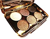 Glitter Eyeshadow Palette 6 Colors Sparkle Eyeshadow Shimmer Ultra Long Lasting Makeup Palette for Valentine's Day Wedding Evening Party