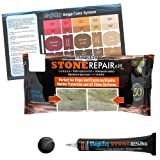 MagicEzy Stone RepairEzy – Marble Countertop Repair Kit - Fix Granite, Marble, Quartz, Travertine, and Other Stone Tiles or Countertops Fast - Black
