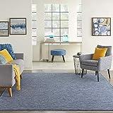 Nourison Positano Flat-Weave Indoor/Outdoor Navy Blue 8' x 10' Area Rug , 8' x 10'