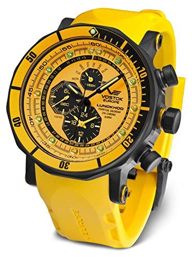 Vostok Europe Herrenuhr Alarm-Chronograph Lunokhod 2 YM86-620C504-YLW