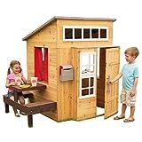 KidKraft- Casa de jardín moderna de madera para niños, incluye cocina de juego y accesorios, Color...