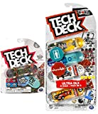 TECH DECK Ultra Rare & Deluxe 4-Pack Series Board Set Skateboard Stunt Fingerboard Pack Bundled with Rare Graphics + Logo & Rad Skater Decals 5 Designs 2 Items