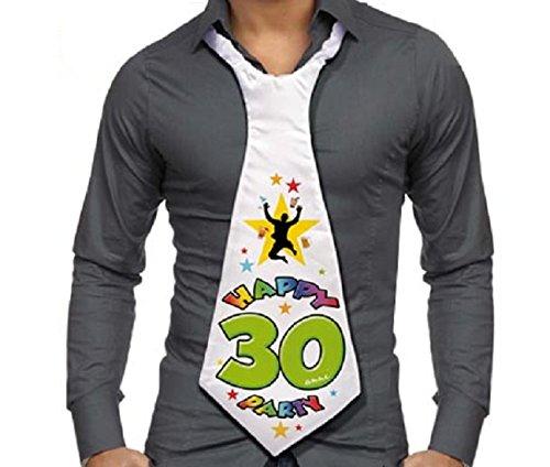Corbata de 30 años – Regalo para fiesta 30 cumpleaños ho