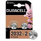 Duracell 2032 Pile bouton lithium 3V, lot de 2, avec Technologie Baby Secure,...