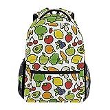 poiuytrew Mochila con patrón de Frutas y Verduras Mochilas de Hombro para Estudiantes Mochila de Viaje Mochilas Escolares