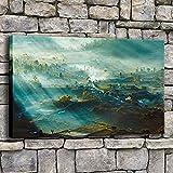 wZUN Lienzo de Arte de Pared Impresión HD Marco de Imagen de Paisaje Natural o Luz de Bosque Imagen de Sol de Bali 50x70cm