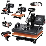 F2C Pro Heat Press 12x15 inch Combo 5 in 1 Heat Press Machine Digital...