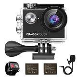 Caméra Sport 4k WiFi Dragon Touch Vision 4 avec Télécommande 2.4G...