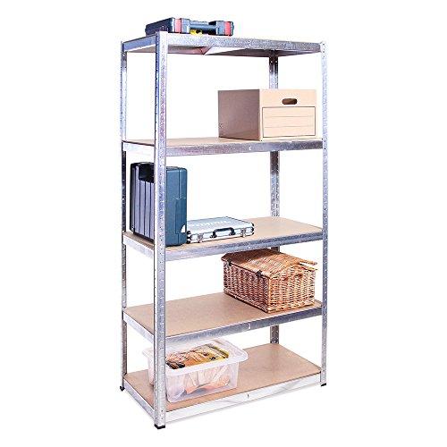 Scaffale per Garage Scaffalatura 180cm x 90cm x 40cm 5 Ripiani (175Kg a ripiano) Capacit di...