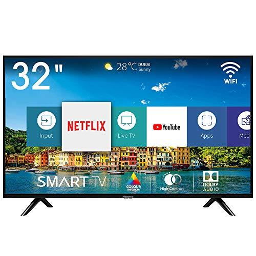 Hisense H32BE5500 Smart TV LED HD 32', USB Media Player, Tuner DVB-T2/S2 HEVC Main10 [Esclusiva...