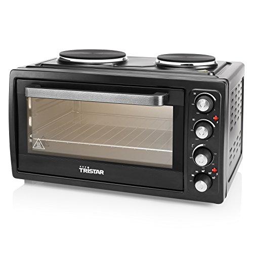Tristar OV-1443 Umluftofen mit Zwei Kochplatten-Inhalt 38 L-3100 Watt