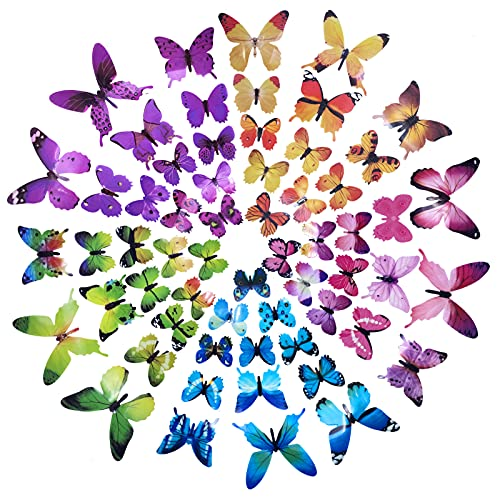 3-D Stick On Butterflies Decals (5Colors)