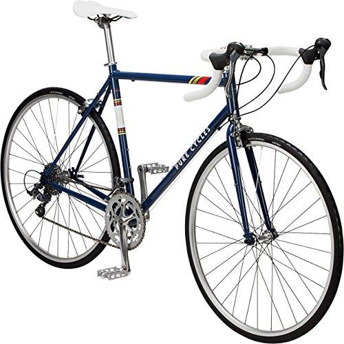 Pure Cycles Classic 16-Speed Road Bike, Bonette Blue, 60cm/XX-Large