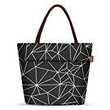 Large Lunch Bags for Women Soft Cooler Tote Bag Aosbos Insulated Lunch Box Adult Food Organizer Black Prism