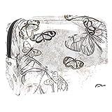 Bolsa de maquillaje portátil con cremallera bolsa de aseo de viaje para las mujeres práctico almacenamiento cosmético bolsa de luz patrón mariposa
