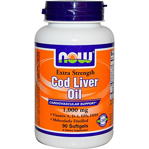 Now Foods, Cod Liver Oil, Extra Strength, 1,000 mg, 90 Softgels - 3PC