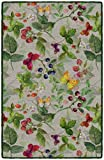 Brumlow MILLS Butterflies & Berries Floral Rug for Kitchen, Living Room, Doormat or Entryway Area, 1'8' x 2'10', Green
