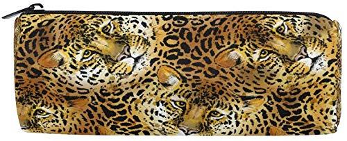 Astucci Tropical Leopard Jaguar Wild Animal Skin Astuccio con cerniera per adolescenti ragazze e...