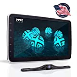 10.1-Inch Single DIN Car Stereo - Bluetooth Indash Car Stereo Touch Screen Receiver Head Unit with Backup Camera, USB, AM FM Radio, Steering Wheel Control, Hands-Free Call, Phone Link - Pyle PL1SN104